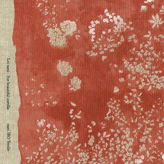 @@104 cm// Japanese vintage kimono silk fabric// smooth weave// flower arrange C94