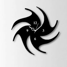 Timeline Chakari Wall Clock Black - Add oodles of style to your home with an exciting range of designer furniture, furnishings, decor items and kitchenware. We promise to deliver best quality products at best prices.