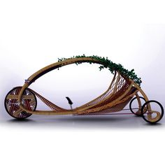 Eco-wheels  designed by Alexander Vittorus-all-bamboo velobike, but has also incorporated the natural growth process of bamboos in the design of a fully sustainable vehicle, the Ajiro Bamboo Velobike.