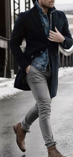 45 Stylish and Casual Winter Outfit Ideas for Men Stylish and Casual Winter Outfit Ideas for MenBy Posted on November 201 Fashion Mode, Fashion Outfits, Street Fashion, Silvester Outfit, Herren Outfit, Mode Masculine, Mens Fashion Suits, Mens Boots Fashion, Fashion For Men