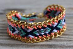 OOAK friendship bracelet in beautiful winter colors by BonkIbiza