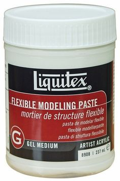 Liquitex offers a variety of specialty products including Fluid Mediums, Gel mediums, Texture Gels and Additives which have been specifically designed to achieve various techniques, applications and special effects. Liquitex Gel Mediums Flexible Modeling Paste is 100% polymer emulsion that dries more slowly than other modeling pastes to a hard yet flexible surface. Used to build three-dimensional forms and heavy textures on supports that may be subject to flexing or movement.