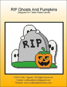 RIP Ghosts & Pumpkin Pg 1/2