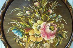 Wandteller HOLZ Bauernmalerei Zierteller Dekoration 29cm Durchmesser rustikal   eBay