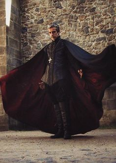 "Peter Capaldi as Cardinal Richelieu in ""The Musketeers"" << Just look at that cape. Awesome."