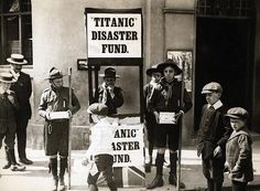 English school Boy Scouts collecting funds for those affected by the titanic disaster. 1912 http://ift.tt/2eNDl84