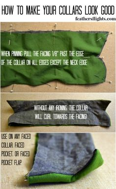 Feather's Flights {a creative, sewing blog}: Sewing 101 - Making Your Collars Look Professional