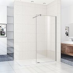 1800mm x 800mm Wet Room Walk-in Shower (Shower Tray & 8mm Glass Screen)