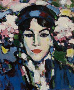 Hortensia , by John Duncan Fergusson - Cd Paintings Gallery Of Modern Art, John Duncan, Lovers Art, Fauvism, Portrait Painting, Art Uk, Scottish Art, Portrait Art, Scottish Colourists