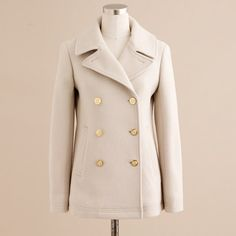 Everybody needs a majestic peacoat. Particularly this color I think would make you glow (hair and eyes contrast).