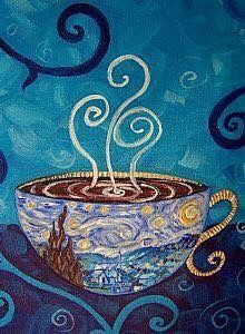Look closely at the scene painted on the mug. Heavenly ~