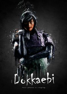 """Rainbow Six Siege Characters Dokkaebi #Displate artwork by artist """"TraXim"""". Part of a 35-piece set featuring artwork based on characters from the popular Rainbow Six video game. £37 / $49 per poster (Regular size), £74 / $98 per poster (Large size) #RainbowSix #RainbowSixSiege #TomClancy #TomClancysRainbowSix #Rainbow6 #Rainbow6Siege #TomClancysRainbow6 #Ubisoft"""