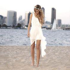 vestido de novia playa - Buscar con Google