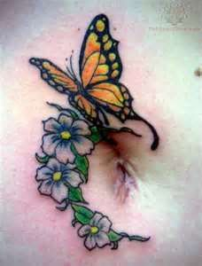 """Butterfly and flower tattoos one response to """"butterfly and flower tat Butterfly Thigh Tattoo, Butterfly Tattoos Images, Butterfly With Flowers Tattoo, Butterfly Tattoo Designs, Tattoo Images, Tattoo Thigh, Feather Tattoos, Body Art Tattoos, Cool Tattoos"""