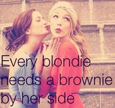 every blondie needs a brownie :)