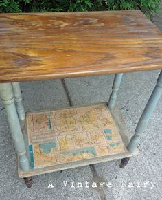 A Vintage Fairy: Dipped leg map table