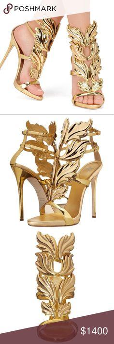 "6707767afed9 Giuseppe Zanotti Cruel Summer heeled sandal 36 Giuseppe Zanotti. Coline  Cruel summer sandal in metallic gold patent ""shooting oro"" on 110 heel.  Size 36."
