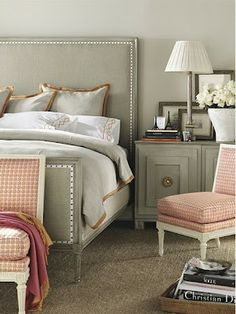 the grey & pale pink is a very sophisticated combination.
