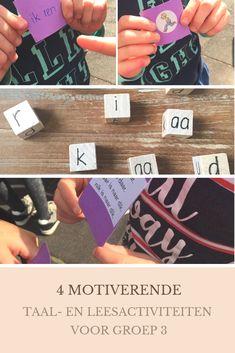 4 motiverende leesactiviteiten in groep 3 | Klas van juf Linda Cooperative Learning, Play To Learn, Teaching Kids, Spelling, Back To School, Teacher, Nail, Stage, Language