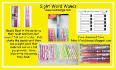 Common Core Literacy Centers: Sight Word Wands!