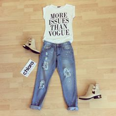 How to style your 'More issues than Vogue' top.