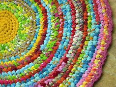 """Janice is traveling and while she is away, I am taking over her """"Spotlight"""" posts. I have always liked rag rugs , but these beauties are sim..."""