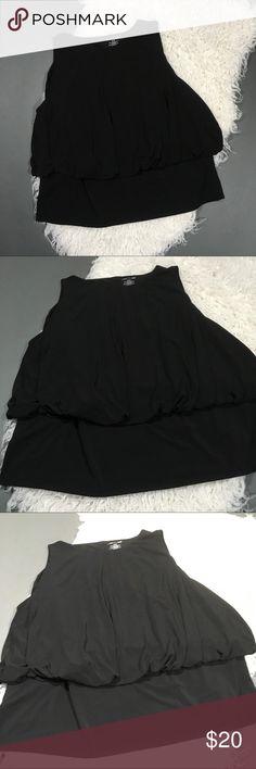 "Lane Bryant Black Sleeveless Bubble Blouse Size- 26/ 28  Condition- No visible flaws.  Measurements: Shoulder to shoulder- 14.5"" Armpit to armpit- 52"" Shoulder to hem- 26"" Lane Bryant Tops Blouses"