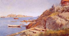 Hans Gude (Norwegian 1825–1903) [Norwegian romantic nationalism] Landskap Ved Stavern, 1884. National Gallery of Norway, Oslo.