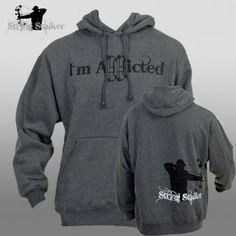 String Stalker Bow Hunting Addicted Hoodie Sweatshirt