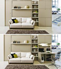 Living Styles: Multifunkčný nábytok, ktorý šetrí priestor. Sklopné postele.