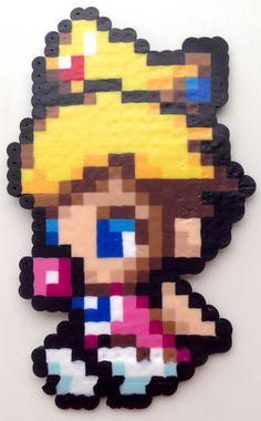 Mario Bross Baby Peach Hama Beads