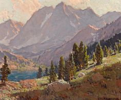 View At Sabrina Lake, Inyo County By Edgar Payne . Truly Art Offers Giclee Unframed Prints on Paper, Canvas Art, and Framed Art in all our Collections. Mountain Art, Mountain Landscape, Mountain Images, Landscape Artwork, Cool Landscapes, Missouri, Edgar Payne, Felix Vallotton, Impressionist Paintings