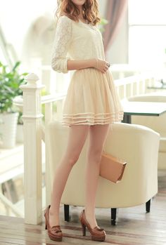 Truly Madly Satin Trim Tiered Mesh A-Line Skirt in Beige   Sincerely Sweet Boutique