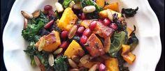 Salade van boerenkool met pompoen en granaatappel ♥ Foodness - good food, top products, great health