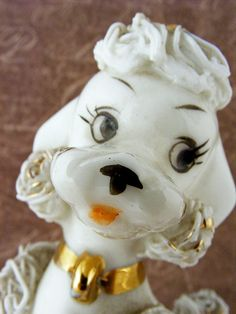 Vintage Spaghetti Poodle Lefton Porcelain Figurine