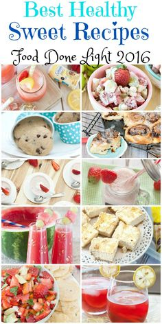 Most popular healthy and low calorie sweet recipes of 2016 including desserts, cocktails and drinks. I was a little surprised to see so many drinks on here. This was the first year I really did alc…