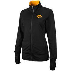$44.95 Iowa Hawkeyes Ladies Studio Full Zip Jacket - Black
