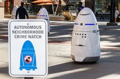 The Knightscope K5 is an autonomous security robot already being deployed in malls, sports stadiums and corporate campuses.