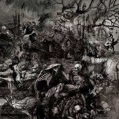Artist and illustrator IG: seldon_hunt White Ink, Black And White, Hunting Art, Collage Illustration, Heavy Metal, Folk, Digital Art, Artist, Artwork
