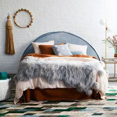 The Flüffelbuster Throw is created from silky soft fluffy faux fur, complete with gold lurex sparkles and giant pom poms. The ideal end of bed throw blanket. The best faux fur throw ever made! 70s Home Decor, Home Decor Trends, Twin Xl Bedding, Bedding Sets, Greenhouse Interiors, Stylish Beds, Bed In A Bag, Faux Fur Throw, Custom Rugs