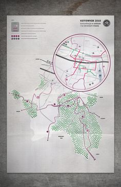 Bicycle Routes by Paulina Urbańska, via Behance