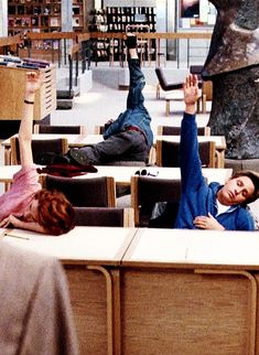 "two truths and a lie: how i respond in my morning classes  ^^When your teacher says ""If no one at least pretends to try I'll have all of you write an essay on this."" The Breakfast Club; always relateable on at least forty different levels per scene."