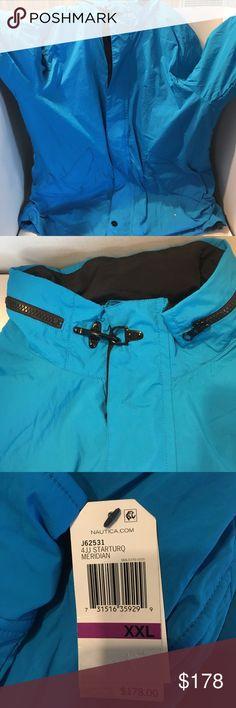 Nautica Water Resistant Jacket XXL Nautica Water Resistant Jacket XXL zip in hood and jacket had pockets. Nautica Jackets & Coats Performance Jackets