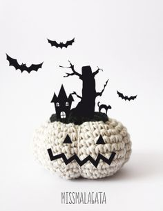 """halloween night"" by missmalagata Halloween Crochet, Halloween Night, Fall Halloween, Halloween Crafts, Happy Halloween, Love Crochet, Crochet Toys, Crochet Monsters, Crochet Pumpkin"