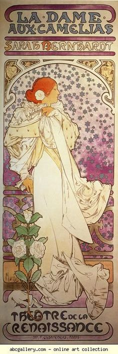 Layout.    Alphonse Mucha. La Dame aux Camélias. Olga's Gallery.