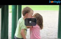 #Cutevideo - 3 year old gets his first kiss from a girl  #funnyvideos #funnykiss #funny