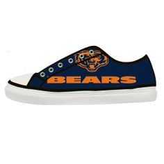 chicago bears shoes for women | Chicago Bears Logo NFL Custom Canvas Shoes  (Women)
