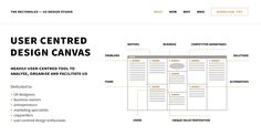 User Centered Design Canvas is an easy to use and effective tool for analysing, organising and facilitating user experience design.