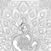 Elegante pavo real — Vector de stock #86003304