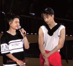 KaiSoo eye contact but Kyungsoo got so nervous when Kai started to look at him